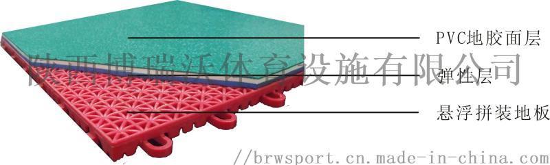 水晶砂PVC羽毛球場地膠鋪設