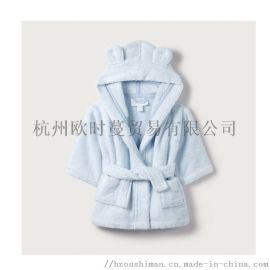儿童纯棉浴袍婴幼儿家居服全棉毛巾料浴衣睡袍