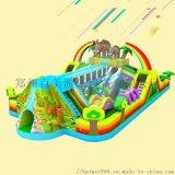 鄭州百美定做兒童充氣滑梯城堡造型多玩法豐富