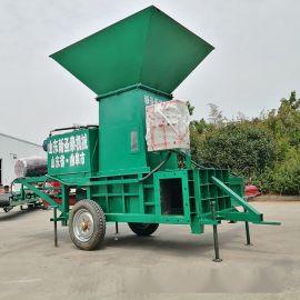 宝清玉米芯方捆压块机 小型牧草压块机厂家