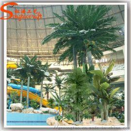 马尔代夫仿真椰子树海滨浴场装饰椰子树  内观景树