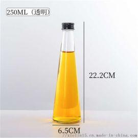 玻璃饮料瓶蜂蜜柚子茶瓶子生产厂家