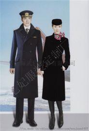 高铁空乘冬季呢大衣定制 空姐大衣 南航空姐制服外套