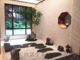 成都禅文化景观小品制作广安餐厅酒店旱景设计