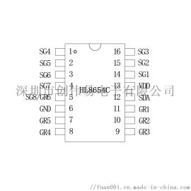 LED数码管驱动芯片HL8654C