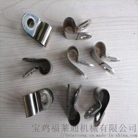 南通县R型不锈钢套胶皮管夹建筑工程