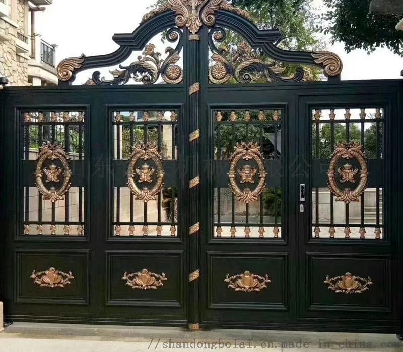 廠家直銷鋁藝大門 加工定做全鋁金屬門 鋁合金別墅大門