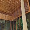 住宅区门头铝单板包柱 展会大堂造型包柱铝单板