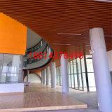 仿木纹工艺吊顶U型铝方通图书馆吊顶铝方通格栅天花