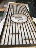 黃鈦金不鏽鋼花格屏風廠家 中式不鏽鋼玄關鏤空花格