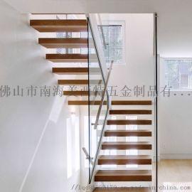 工厂生产直型楼梯,不锈钢楼梯