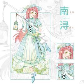 来图定制特油古风、现代服饰俏丽女孩手帐素材和纸胶带