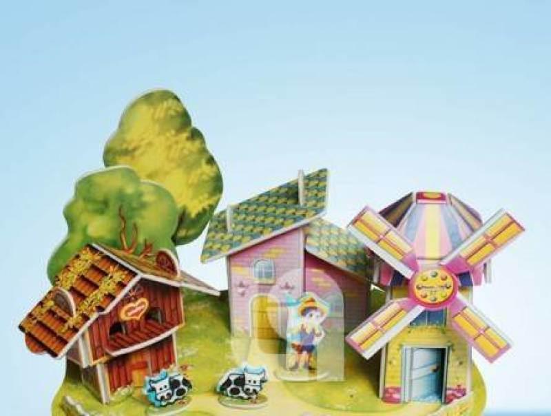 10元模式庙会夜市  3D拼图儿童益智玩具哪里便宜