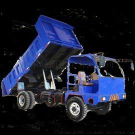 矿用四不像四驱运输车 翻斗自卸四轮拖拉机运输车