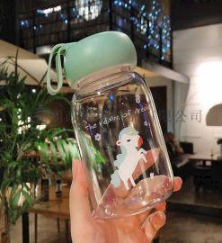 迷你杯子玻璃杯便携韩版简约森系清新水杯女可爱超萌