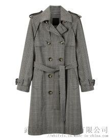 时尚女装拿货谷度20年冬装新款女式风衣外套