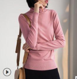 純色針織高領打底衫內搭休閒毛衣2020秋冬軟糯