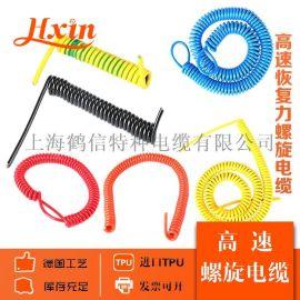 螺旋电缆弹簧线多芯规格伸缩电源线TPU PUR