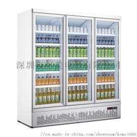 啤酒饮料玻璃门除雾展示冷藏冰柜冰箱定制