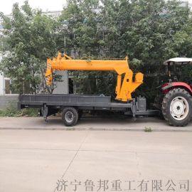 四驱拖拉机随车吊 16吨拖拉机牵引吊车