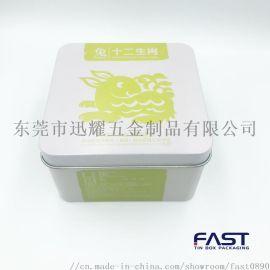 湖北黄茶铁盒,银针茶叶铁罐