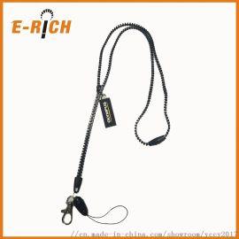 拉链专业厂家生产 拉链挂绳 拉链耳机挂带 PVC拉牌