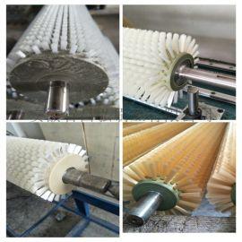 毛刷圆柱毛刷辊尼龙丝毛刷轮