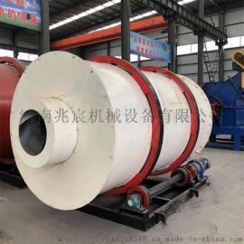 大型石英砂矿粉三筒烘干机回转式锯末干燥机