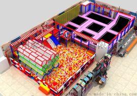 供应生产大型网红亲子蹦蹦床淘气堡综合主题乐园设备