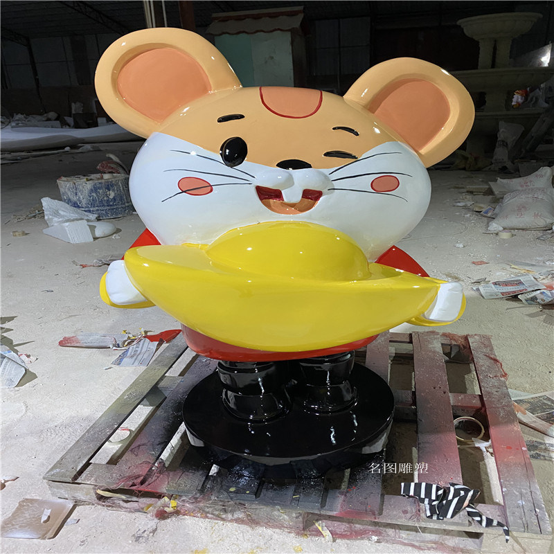 玻璃鋼人物卡通雕塑 佛山卡通公仔雕塑商場美陳