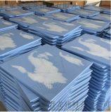辦公大樓平面鋁扣板  藍色圖案鋁扣板天花