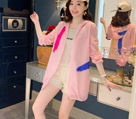 防晒衣女2020宽松纯色外套单件款防嗮服沙滩  夏季休闲时尚女装