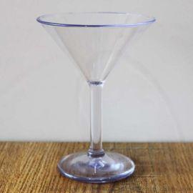 马天尼塑料酒杯厂家定制180ml高脚塑料鸡尾酒杯