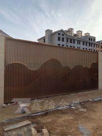 房地产特色景墙山峦屏风 不锈钢山峦造型格栅