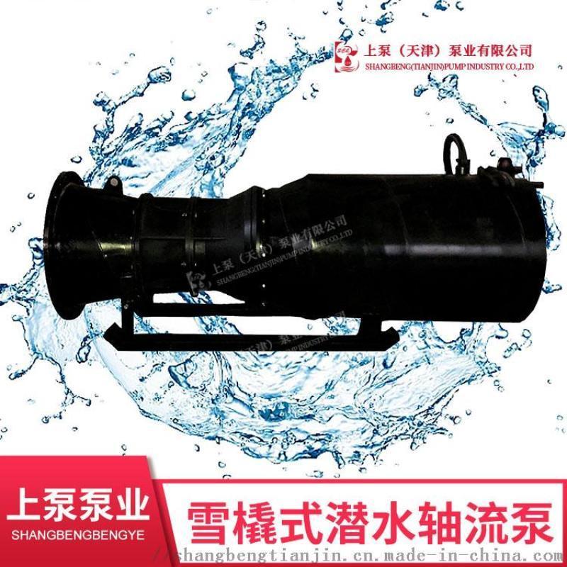 安徽防汛應急排水泵_雪橇式潛水軸流泵
