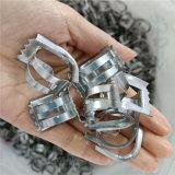 今日生产DN25不锈钢矩鞍环316L带齿鞍形环填料