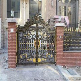 温州瓯海区庭院欧式大门欧式铝合金护栏测量