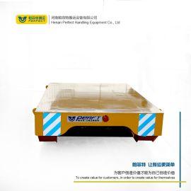 搬运化肥设备清洗机轨道车 遥控物料周转过跨电动平车