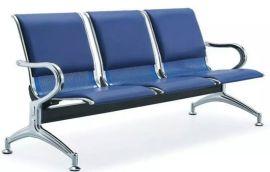 供应佛山三角款加垫钢质椅公共座椅
