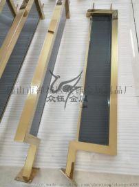 让人赏心悦目的新中式不锈钢镶玻璃护栏扶手