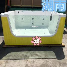 圆形婴幼儿游泳池 婴儿游泳馆 婴儿游泳训练早教池