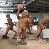 玻璃钢打篮球人物雕塑校园广场仿铜人物雕塑
