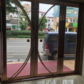 厂家直销玻璃门家用商铺酒店超市不锈钢玻璃门