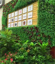仿真绿植墙用于商场餐厅仿真植物墙仿真花墙真植物墙