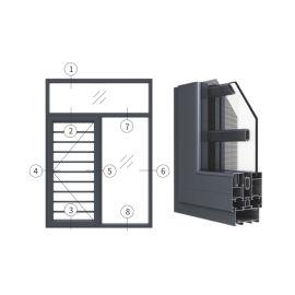 广东兴发铝材创高GL65A窗纱一体外平开窗