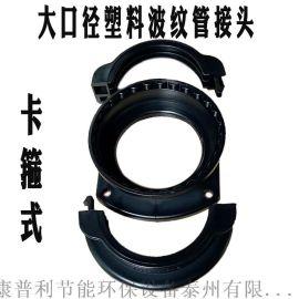 大口径塑料波纹管软管接头AD80