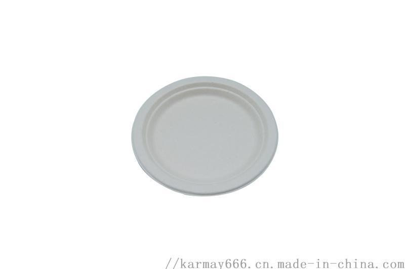 一次性纸浆餐盘6寸圆盘甘蔗渣纸浆盘