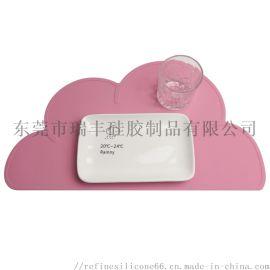 创意硅胶垫 云朵餐垫 婴幼儿硅胶垫隔热防滑餐垫
