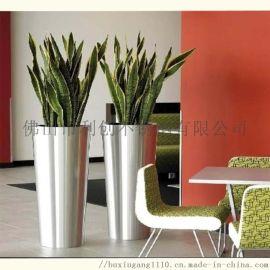 不锈钢异型花盆花箱加工金属花盆