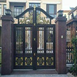 天津河北区铝合金庭院大门PVC草坪护栏豪华定制